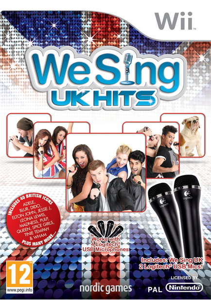 Boxart van We Sing UK Hits (incl. 2 microfoons) (Wii), Nordic Games