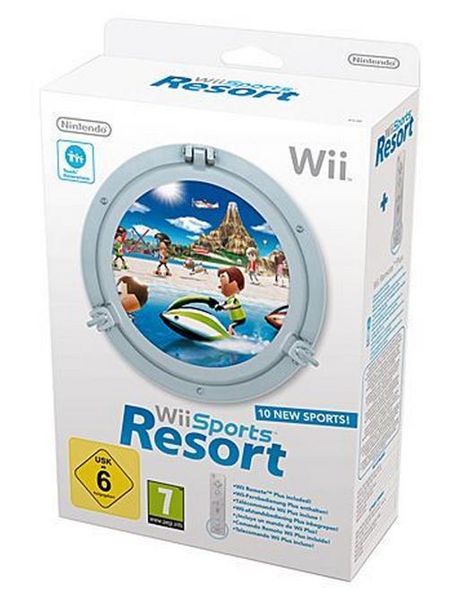 Wii Sports Resort + Wii Remote Plus Wit (Wii), Nintendo