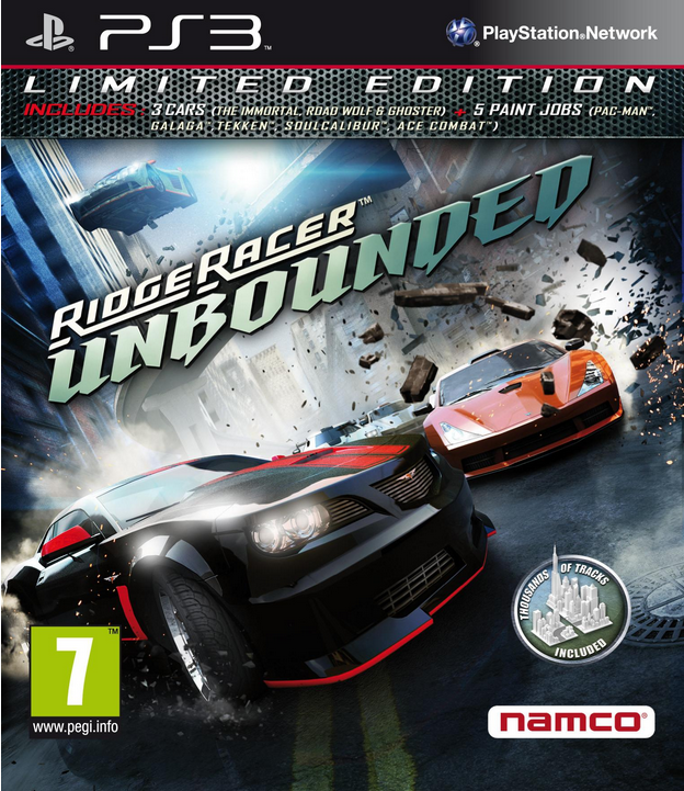 Boxart van Ridge Racer Unbounded Limited Edition (PS3), Bugbear Entertainment