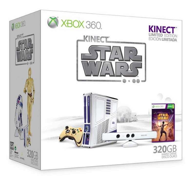 Boxart van Xbox 360 Console Slim 320 GB Limited Star Wars Edition + Microsoft Kinect Wit + Star Wars (Xbox360), Microsoft