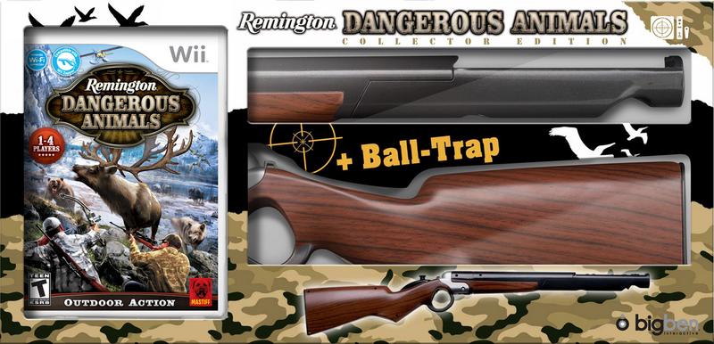 Boxart van Dangerous Animals + Rifle (Bundel) Collectors Edition (Wii), Big Ben