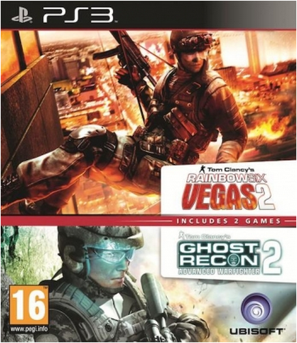 Boxart van Rainbow Six: Vegas 2 + Ghost Recon: Advanced Warfighter 2 (PS3), Ubisoft