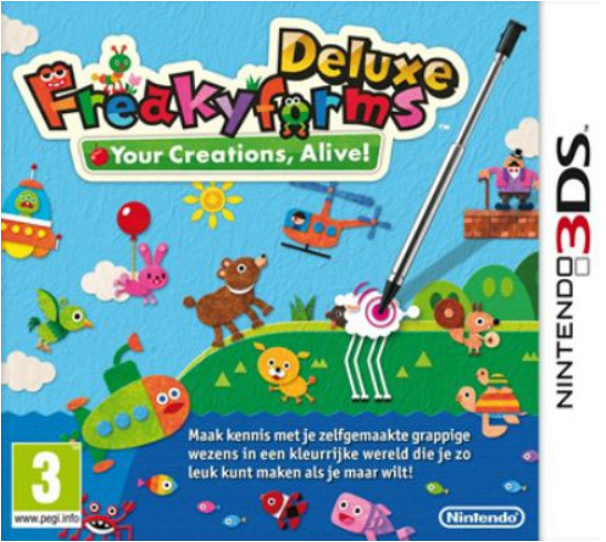 Boxart van Freakyforms Deluxe: Your Creations, Alive! (3DS), Nintendo