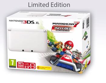 Boxart van Nintendo 3DS XL Console Wit + Mario Kart 7 (3DS), Nintendo
