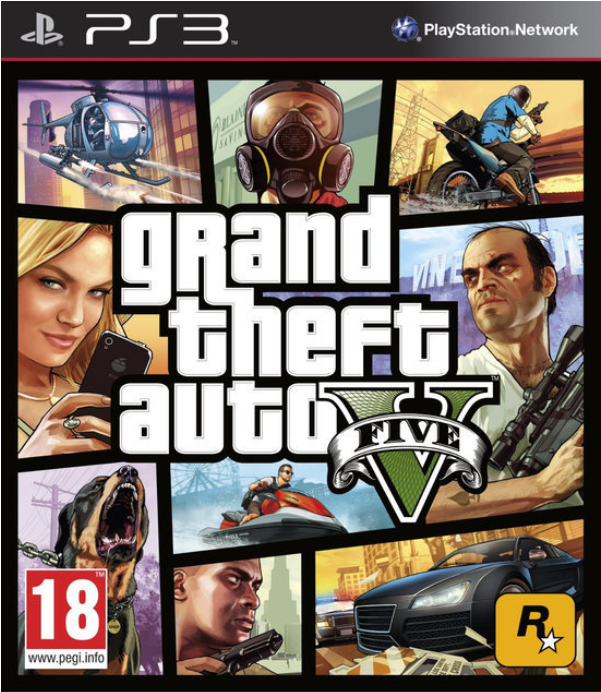 Boxart van Grand Theft Auto V (GTA 5) (PS3), Rockstar Games