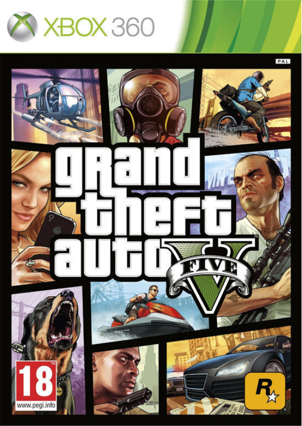 Boxart van Grand Theft Auto V (GTA 5) (Xbox360), Rockstar Games