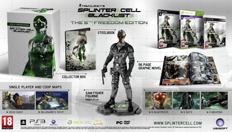Tom Clancy's Splinter Cell: Blacklist 5th Freedom Edition (PS3), Ubisoft