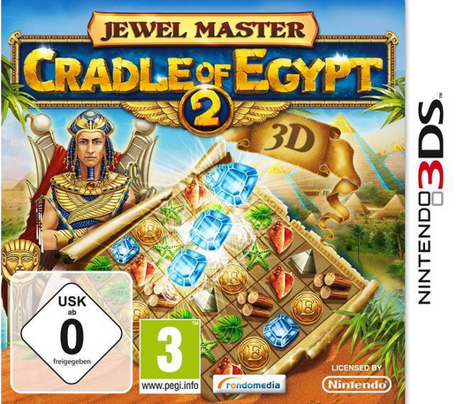Boxart van Jewel Master: Cradle of Egypt 2 (3DS), RondoMedia