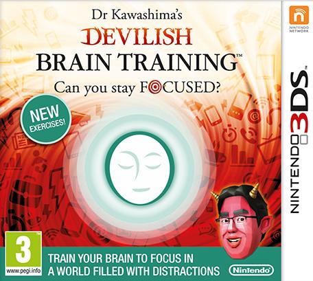 Boxart van Dr. Kawashima Duivelse Brain Training (3DS), Nintendo