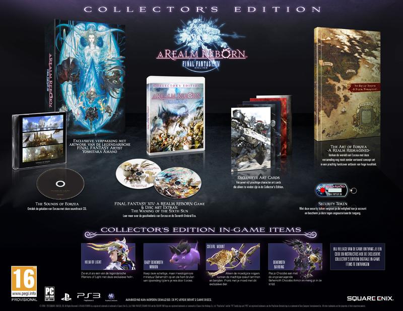 Boxart van Final Fantasy XIV Online: A Realm Reborn Collectors Edition (PS3), Square Enix