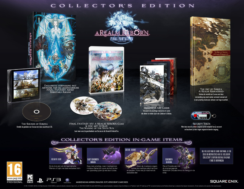 Boxart van Final Fantasy XIV Online: A Realm Reborn Collectors Edition (PS4), Square Enix