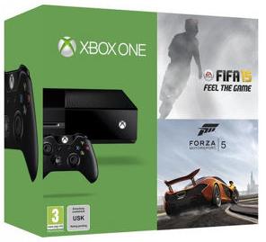 Boxart van Xbox One Console (500 GB) + FIFA 15 + Forza 5 (Xbox One), Microsoft