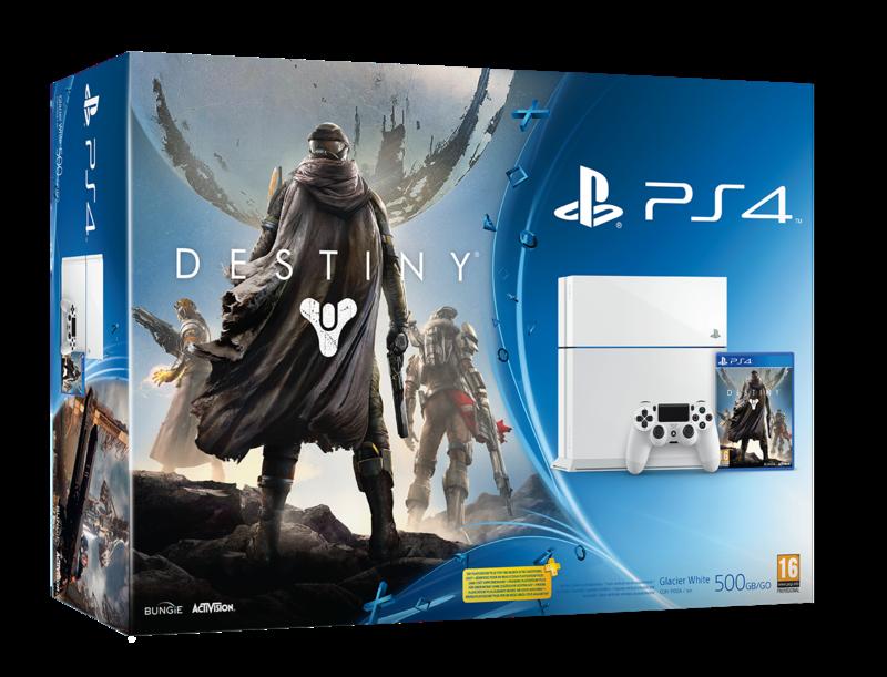 Boxart van PlayStation 4 (500 GB) (glacier white) + Destiny (PS4), Sony Computer Entertainment