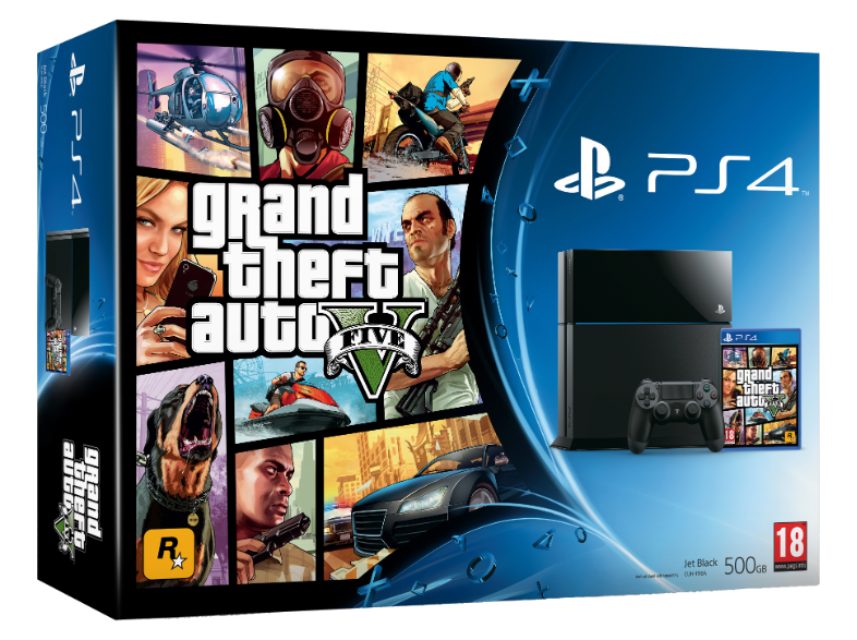 Boxart van PlayStation 4 (500 GB) + Grand Theft Auto V (GTA 5) (PS4), Sony Computer Entertainment