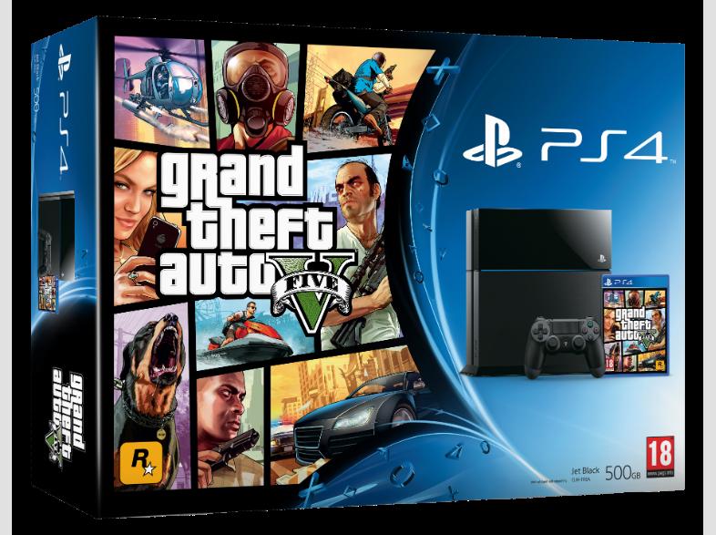 PlayStation 4 (500 GB) + Grand Theft Auto V (GTA 5) (PS4), Sony Computer Entertainment