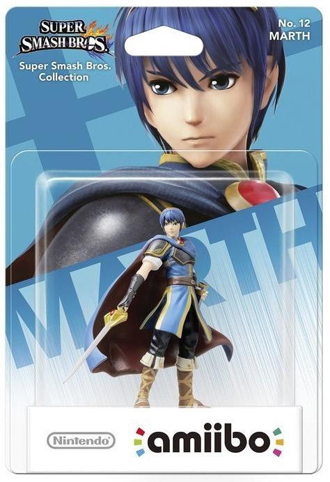 Boxart van Super Smash Bros Amiibo Figuur Marth (NFC), Nintendo