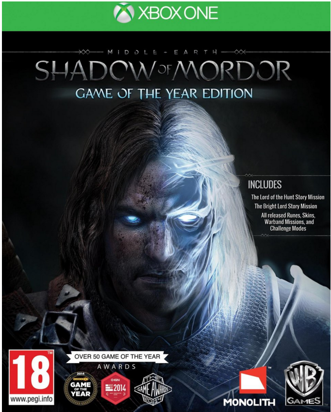 Boxart van Middle-Earth: Shadow of Mordor Game of the Year Edition (Xbox One), Monolith Productions