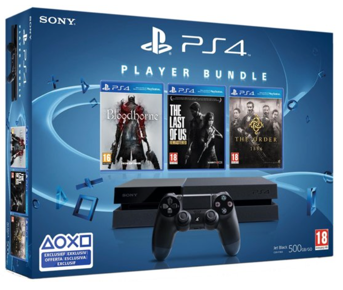 Boxart van PlayStation 4 (500 GB) + Bloodborne + The Last Of Us + The Order 1886 (PS4), Sony Computer Entertainment