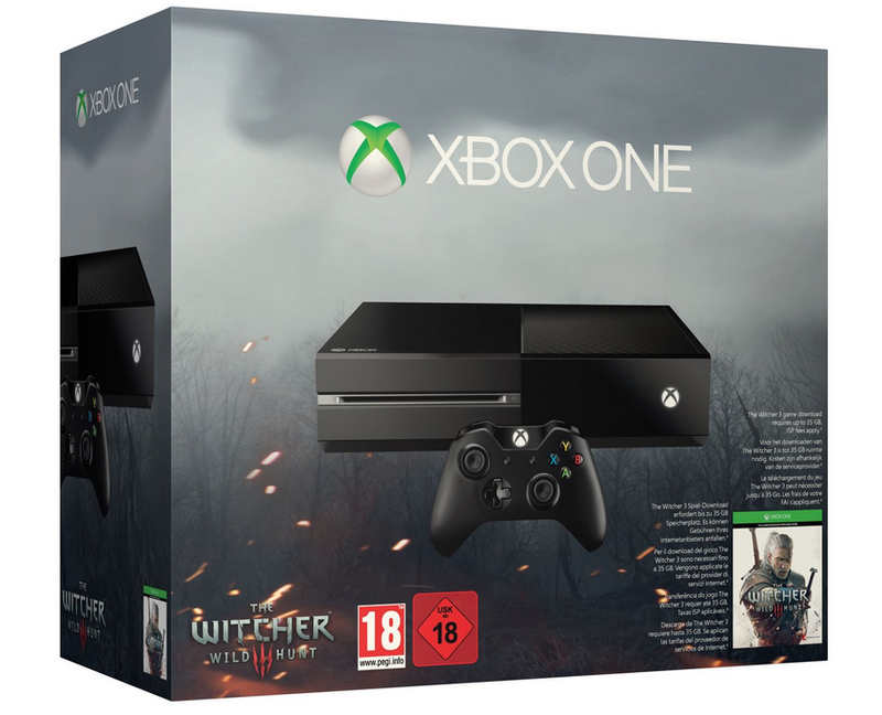 Xbox One Console (500 GB) + The Witcher 3: Wild Hunt