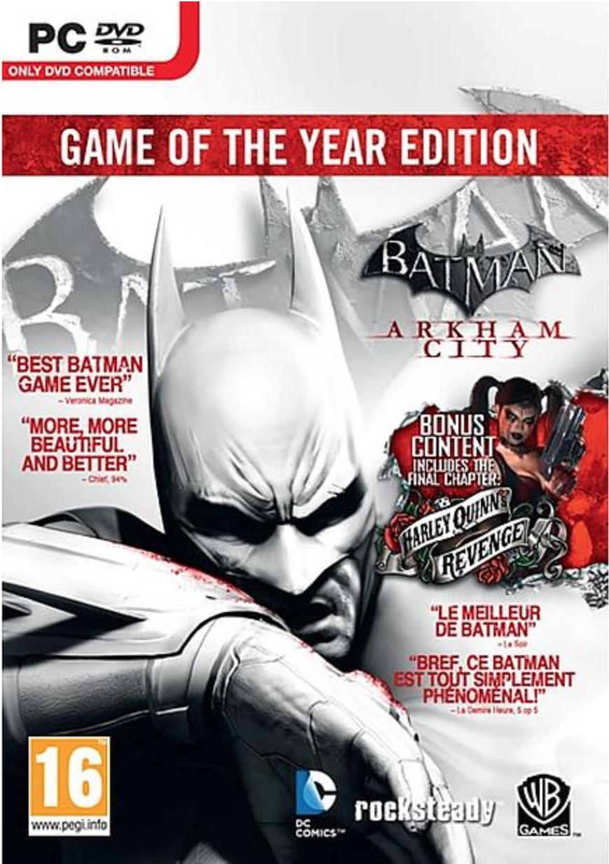 Boxart van Batman: Arkham City - Game of The Year Edition (PC), Warner Bros