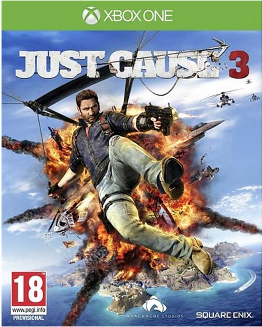 Boxart van Just Cause 3  (Xbox One), Avalanche Studios