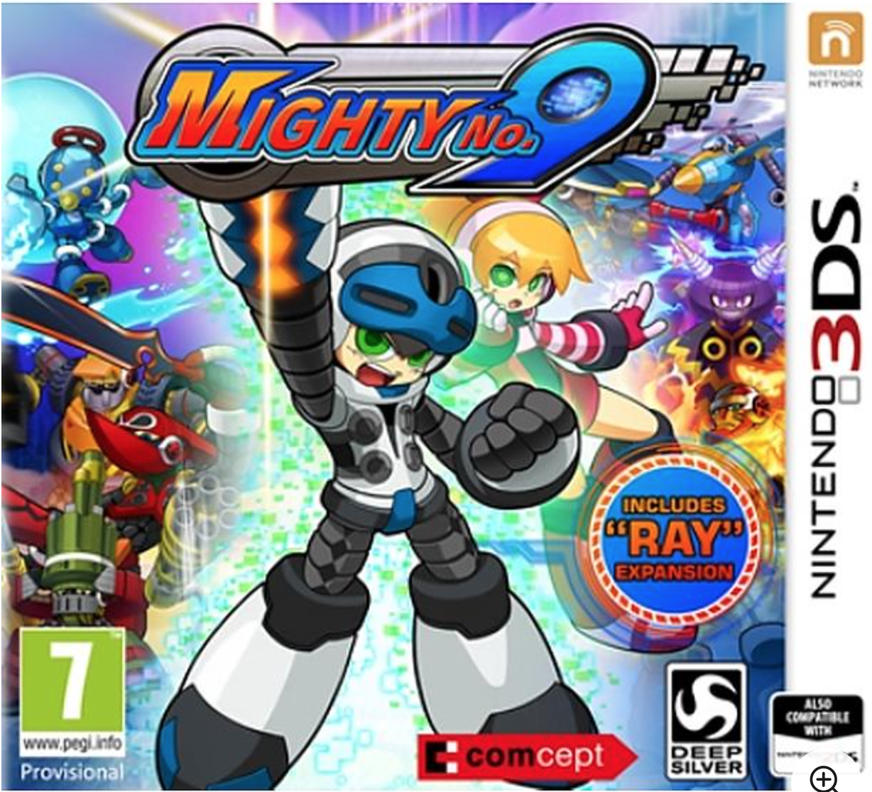 Boxart van Mighty No. 9 (3DS), Comcept