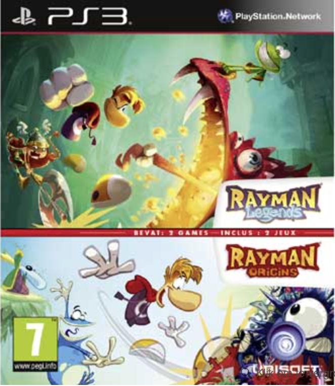 Boxart van Rayman Legends + Rayman Origins Double Pack (PS3), Ubisoft