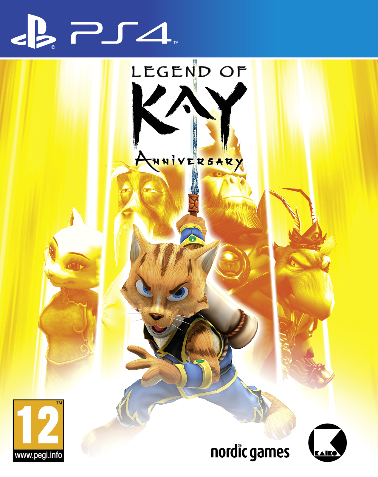 Boxart van Legend of Kay Anniversary (PS4), Nordic Games