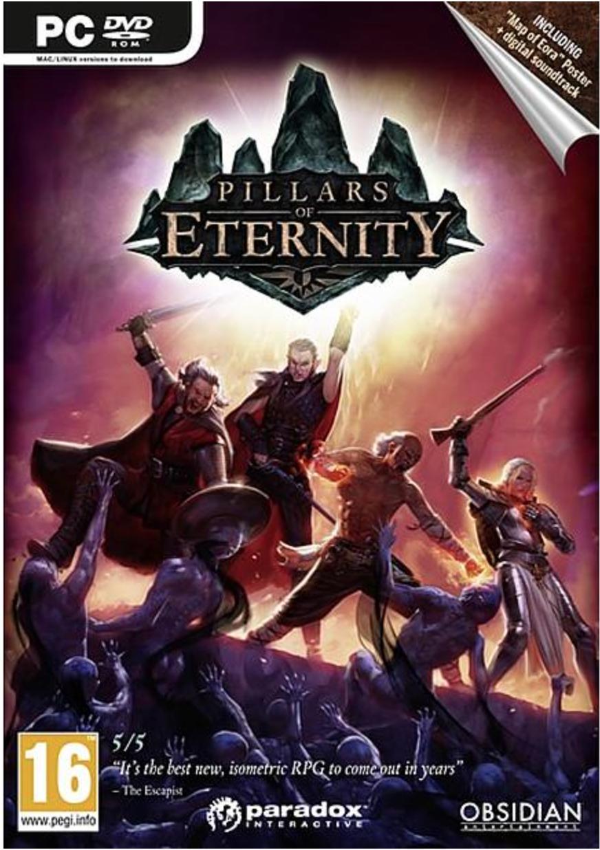 Boxart van Pillars of Eternity (PC), Paradox Interactive