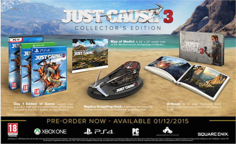 Boxart van Just Cause 3: Collector's Edition (PS4), Avalanche Studios