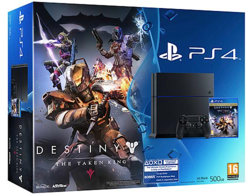 Boxart van PlayStation 4 (500 GB) + Destiny: The Taken King (PS4), Sony Computer Entertainment