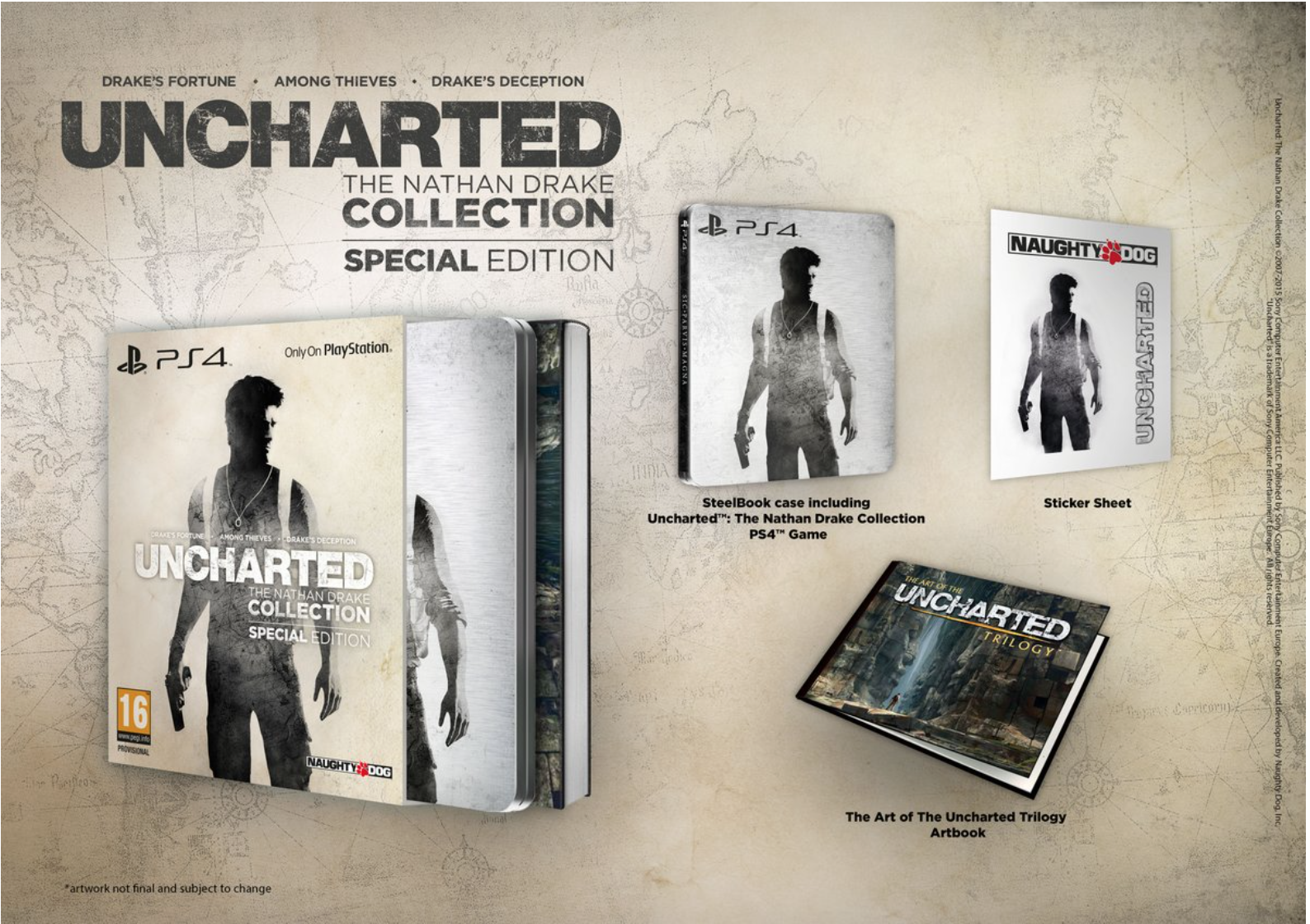 Boxart van Uncharted: The Nathan Drake Collection - Special Edition (PS4), Sony Computer Entertainment