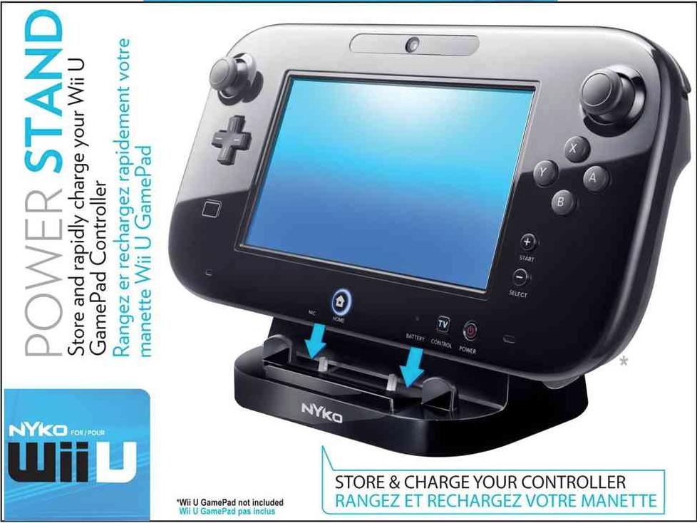 Boxart van Nyko Wii U Power Stand (Zwart) (Wiiu), Nyko