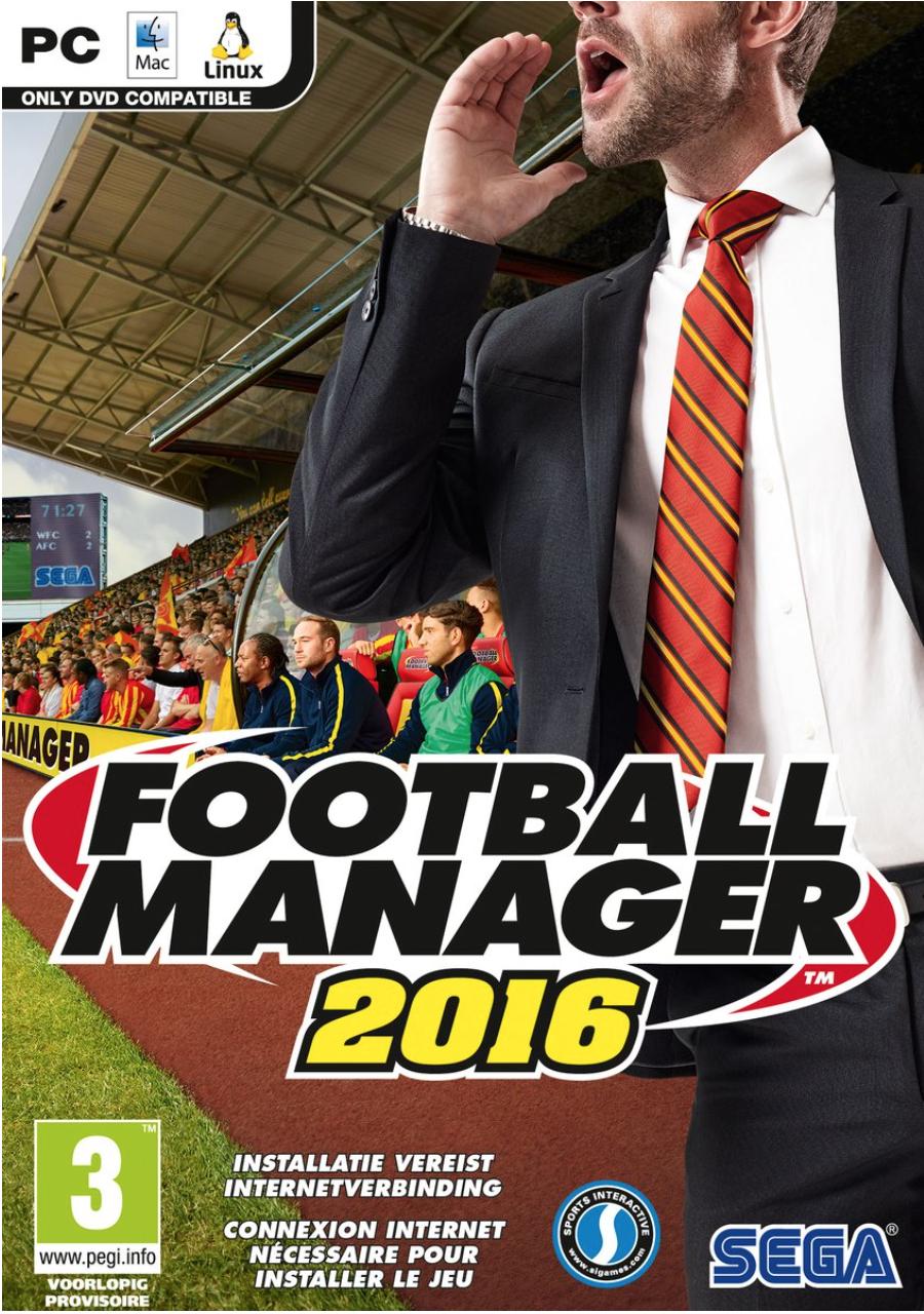 Boxart van Football Manager 2016 (PC), SEGA