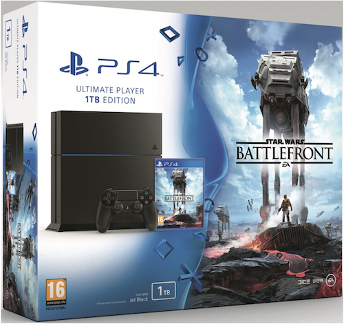 Boxart van PlayStation 4 (1 TB) + Star Wars: Battlefront (PS4), Sony Computer Entertainment