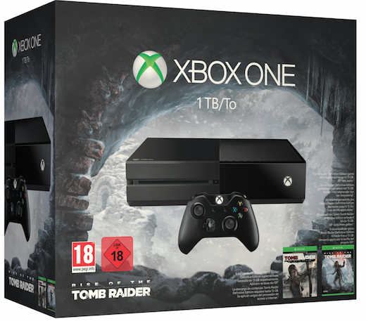 Boxart van Xbox One Console (1 TB) + Rise of the Tomb Raider (Xbox One), Microsoft