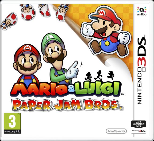 Boxart van Mario & Luigi: Paper Jam Bros (3DS), AlphaDream