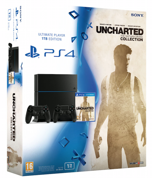 PlayStation 4 (1 TB) + Extra Controller + Uncharted: The Nathan Drake Collection (PS4), Sony Computer Entertainment
