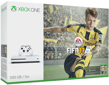Xbox One S Console Wit (500 GB) + FIFA 17