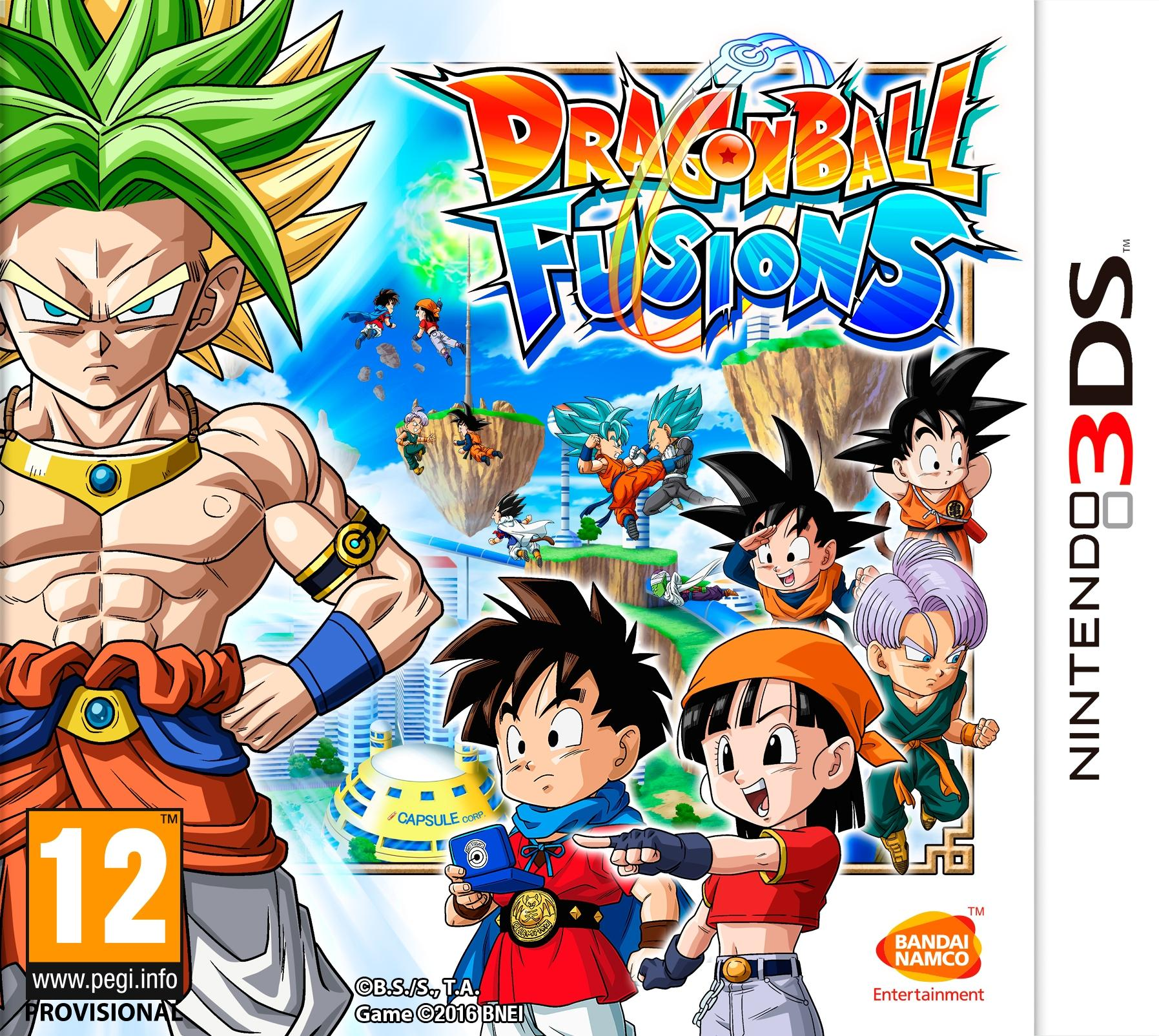 Boxart van Dragon Ball Fusions (3DS), Bandai Namco Games