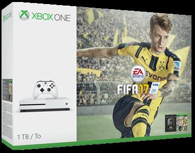 Boxart van Xbox One S Console Wit (1 TB) + FIFA 17 (Xbox One), Microsoft