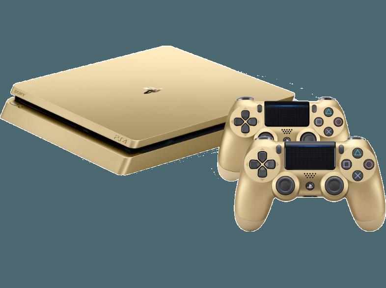 Boxart van PlayStation 4 Slim (500 GB) (goud) + 2 Controllers (PS4), Sony