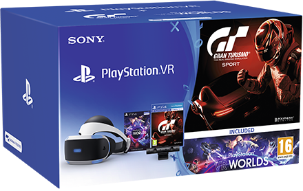 Boxart van Sony PlayStation VR Bril + PS Camera + VR Worlds + Gran Turismo: Sport (PS4), Sony Computer Entertainment