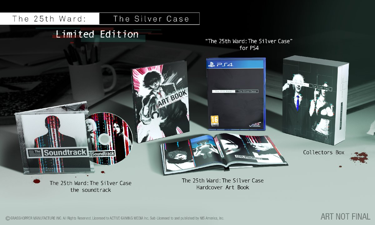 Boxart van The 25th Ward: The Silver Case (Limited Edition) (PS4), Grasshopper Manufacture