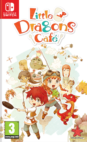 Boxart van Little Dragons Cafe (Switch), Rising Star Games