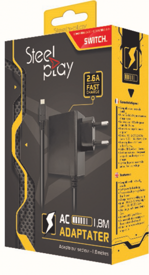 Boxart van Steelplay AC Adapter - Switch (Switch), Steelplay