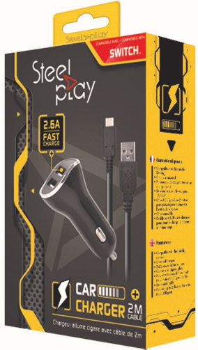 Boxart van Steelplay Car Charger with USB Ports - Switch (Switch), Steelplay
