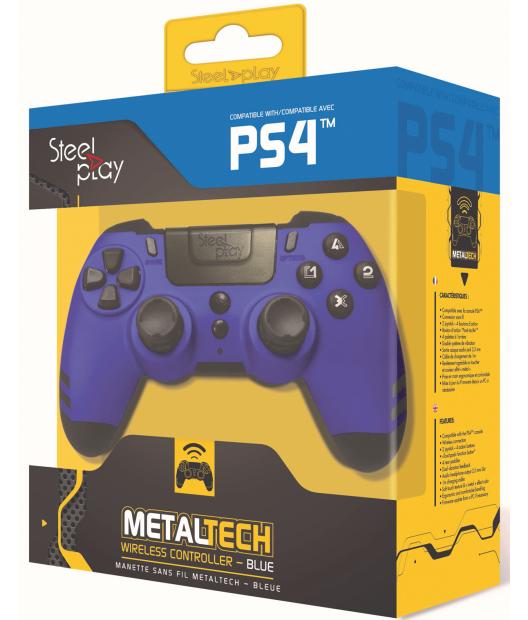 Boxart van Steelplay MetalTech Wireless Controller - Sapphire Blue (PS4), Steelplay