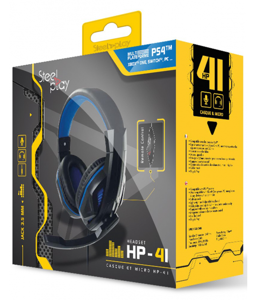 Boxart van Steelplay HP-41 Gaming Headset - PS4 / Switch / Xbox One / PC (PS4), Steelplay