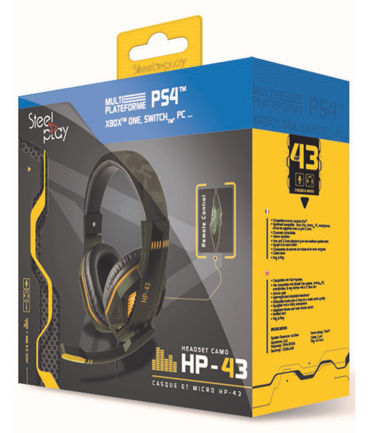Boxart van Steelplay HP-43 Gaming Headset Green Camo - PS4 / Switch / Xbox One / PC (PS4), Steelplay